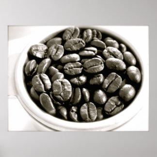 Serie del café - habas en poster del filtro