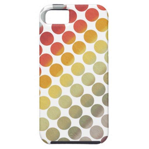 Serie del cielo del arco iris (puntos) iPhone 5 fundas