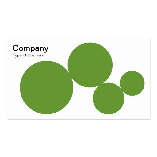 Serie del círculo - verde del aguacate en blanco tarjetas de visita