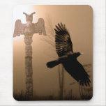 Serie del cuervo y del cuervo alfombrilla de ratones