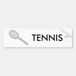 Serie del deporte - estafa de tenis etiqueta de parachoque