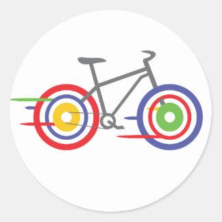 ¡Serie del deporte - monte la bici! Pegatina Redonda