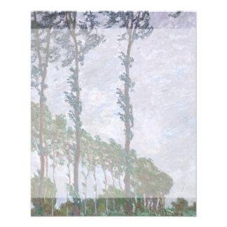 Serie del efecto de viento de álamos de Claude Tarjeton