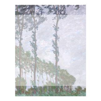 Serie del efecto de viento de álamos de Claude Tarjeta Publicitaria