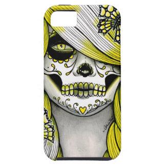 Serie del espectro - chica amarillo del cráneo del iPhone 5 cárcasas