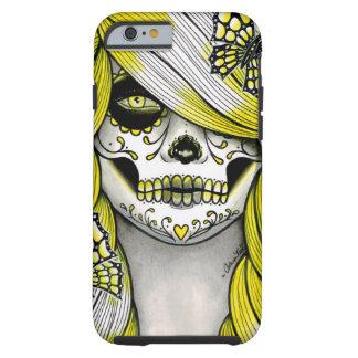 Serie del espectro - chica amarillo del cráneo del funda de iPhone 6 tough