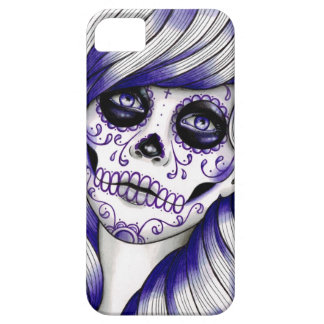 Serie del espectro - chica violeta del cráneo del  iPhone 5 Case-Mate carcasa