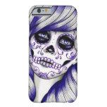 Serie del espectro - chica violeta del cráneo del funda de iPhone 6 barely there