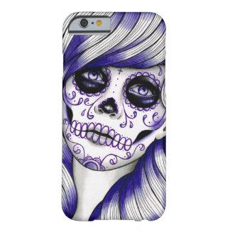 Serie del espectro - chica violeta del cráneo del funda para iPhone 6 barely there