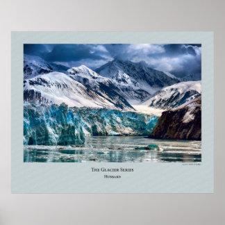 Serie del glaciar - Hubbard 304 Póster