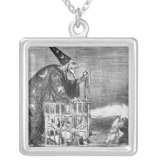 Serie 'del La Comete de 1857 ' Collar Plateado