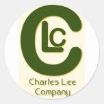 Serie del logotipo de la compañía etiqueta redonda