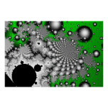 Serie del poster de alta resolución del fractal de