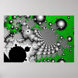 Serie del poster de alta resolución del fractal de póster