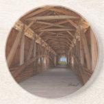 Serie del puente cubierto---Práctico de costa Posavasos Cerveza