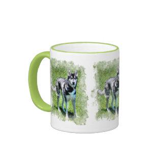 Serie del regalo del mascota de los Perro-amantes  Taza A Dos Colores