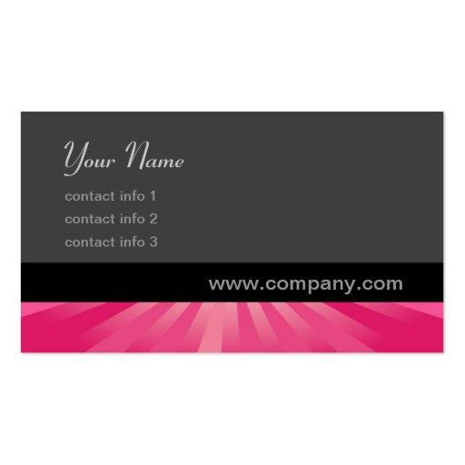 Serie del resplandor - rosa tarjetas de visita