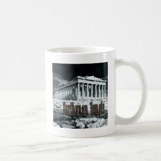 Serie del templo del Parthenon Tazas De Café