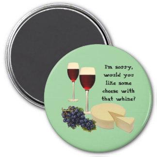 Serie del vino y del queso imán para frigorifico