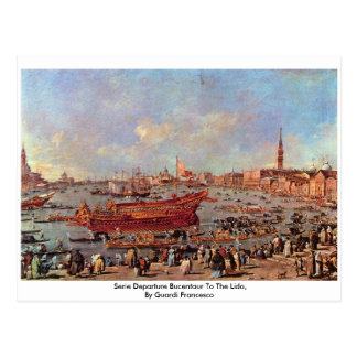 Serie Departure Bucentaur To The Lido Postcard