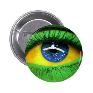 Serie el Brasil Pin Redondo 5 Cm