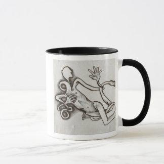 serie enredada de la taza de café