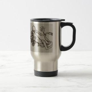 serie enredada de la taza de café del viaje