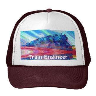 Serie ferroviaria del gorra del ingeniero del tren