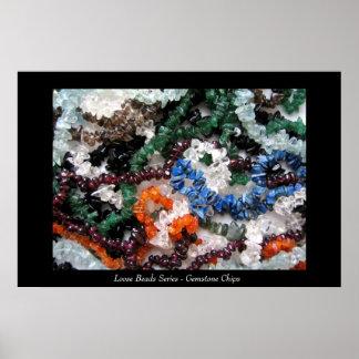 Serie floja de las gotas - microprocesadores de la poster