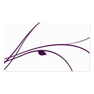 Serie floral - 02 - violeta tarjetas de negocios