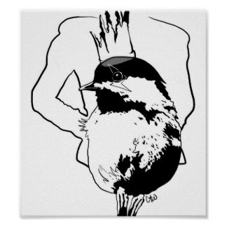 serie gaga 1 del pájaro póster