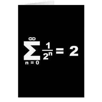 serie geométrica de Reihe del geometrische Tarjeta De Felicitación