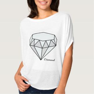 Serie grande de Birthstone - diamante Playera