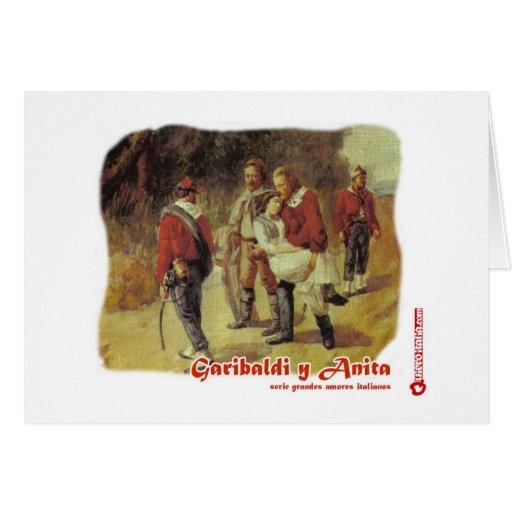 serie grandes amores italianos: Garibaldi y Anita Tarjeton