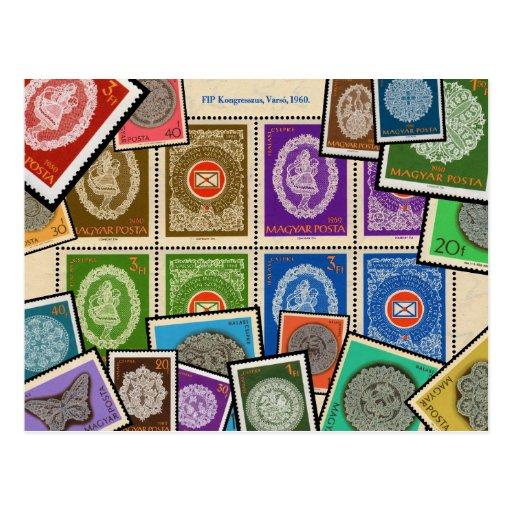 Serie húngara del sello del cordón - 1960 tarjetas postales