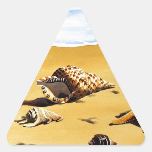 Serie I de Shell del mar Pegatina Trianguladas Personalizadas