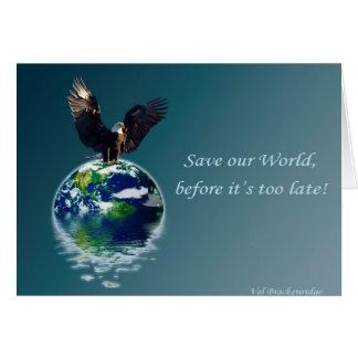 Serie II del Día de la Tierra de Eagle Tarjeta De Felicitación