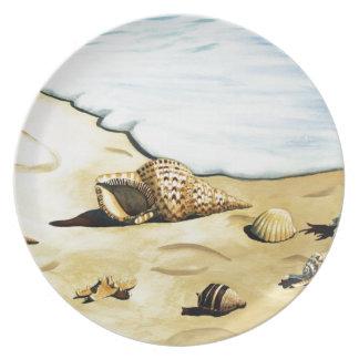 Serie III de Shell del mar Plato De Comida