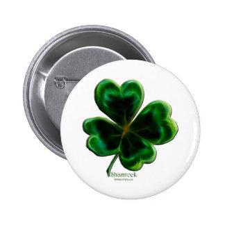 Serie irlandesa del trébol pin redondo de 2 pulgadas