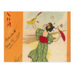 Serie japonesa del ejemplo/del geisha postal