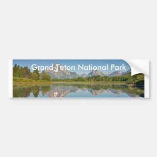 Serie magnífica 10 del parque nacional de Teton Pegatina Para Auto