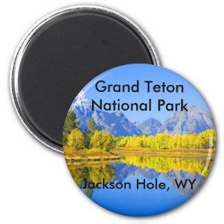 Serie magnífica 1 del parque nacional de Teton Imán Redondo 5 Cm