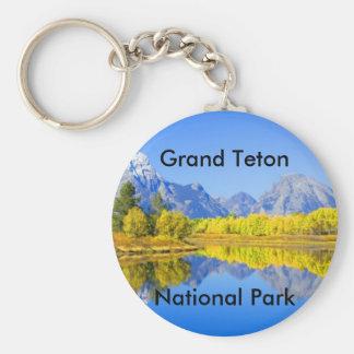 Serie magnífica 1 del parque nacional de Teton Llavero Redondo Tipo Pin