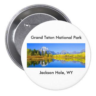 Serie magnífica 1 del parque nacional de Teton Pin Redondo De 3 Pulgadas