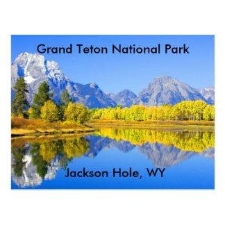 Serie magnífica 1 del parque nacional de Teton Tarjetas Postales