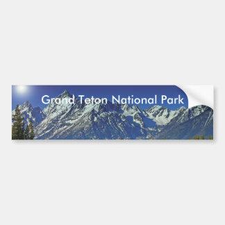 Serie magnífica 4 del parque nacional de Teton Pegatina Para Auto