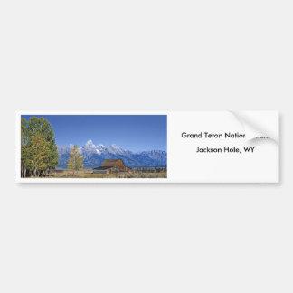Serie magnífica 5 del parque nacional de Teton Pegatina Para Auto