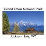 Serie magnífica 5 del parque nacional de Teton Tarjeta Postal