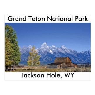 Serie magnífica 5 del parque nacional de Teton Postal