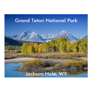 Serie magnífica 6 del parque nacional de Teton Tarjetas Postales